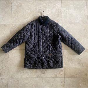 Black Polo Ralph Lauren Puffer Quilted Coat